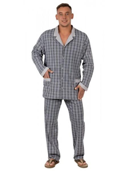 Пижама мужская классическая на пуговках (хлопок)