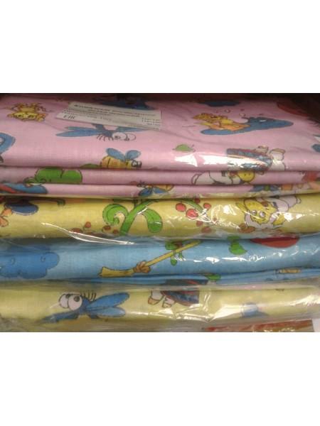 КПБ детский бязь в ясельную кроватку (цвета в ассорт.)