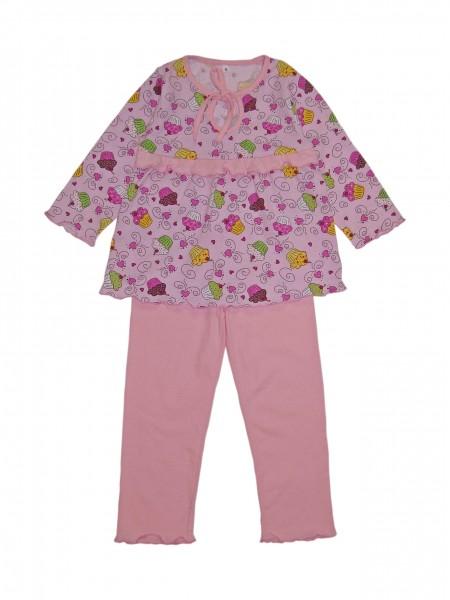 """Пижама для девочки на кокетке """"Пироженки"""" цв.в ассорт"""