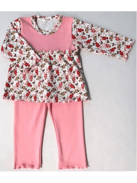 Пижама на кокетке для девочки (цв.в ассортименте)