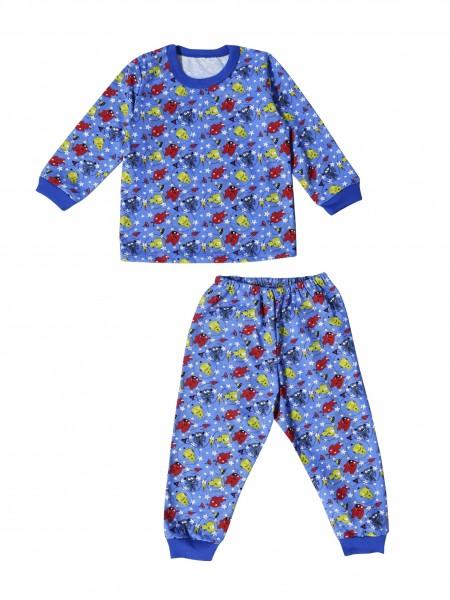 Пижама детская классическая на манжетах для мальчика