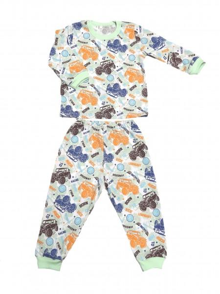 Пижама детская классическая на манжетах для мальчика рост 92см
