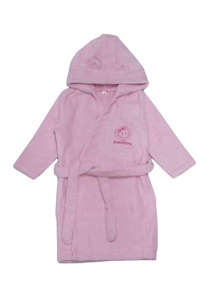 Халат махровый детский (розовый) рост 86