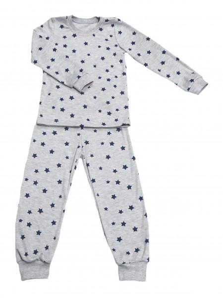 Пижама классическая на манжетах для мальчика интерлок(цв.в ассорт.)