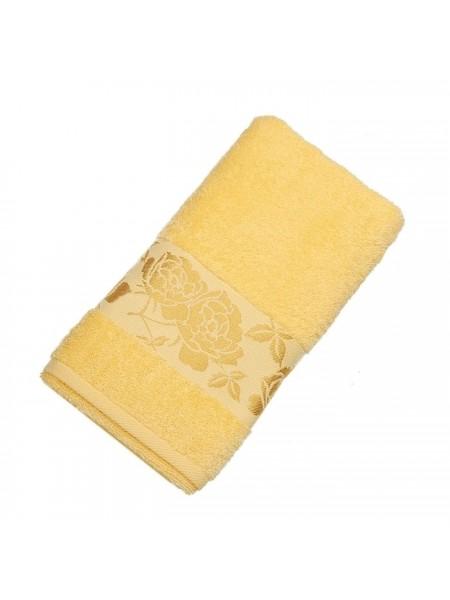 Полотенце махр. 50*90 Gold Flower 420гр/м2 (желтый)