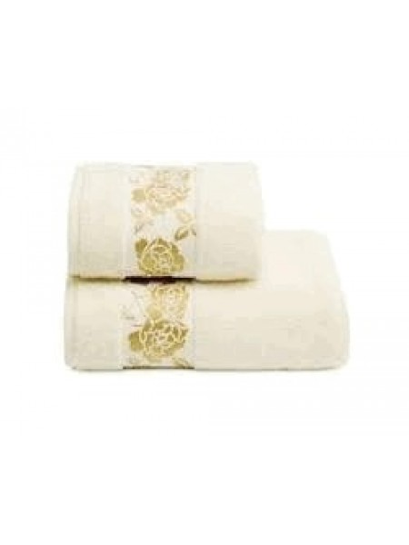 Полотенце махр. 50*90 Gold Flower 420гр/м2 (молочный)