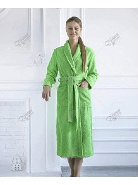 Халат махровый женский (зеленый)