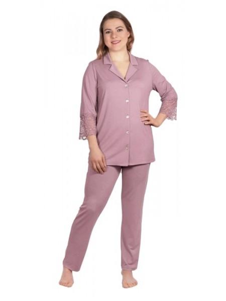 Пижама (вискоза) с брюками К-97-11