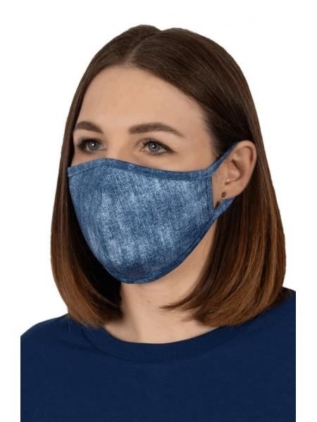 Защитная маска многоразовая жен. (цв. в ассорт.) (двухслойная, хлопок)