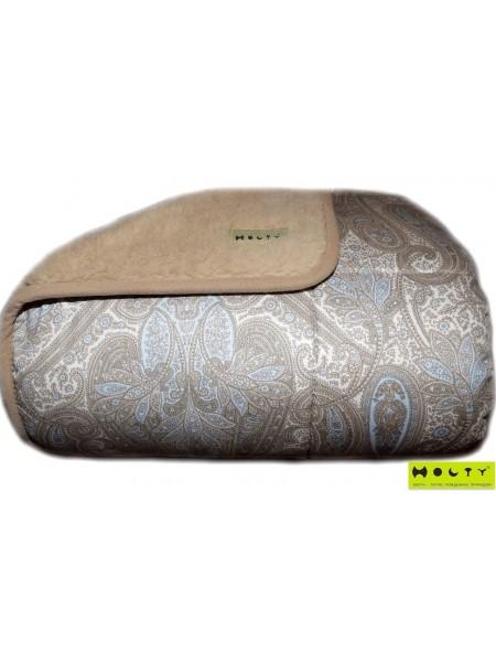 """Одеяло Классика-сатин """"Кашмир""""(овечья шерсть) 1,5сп. (140х205)"""