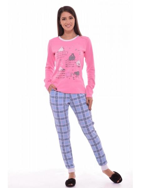 Пижама с брюками Новое кимоно (розовая)