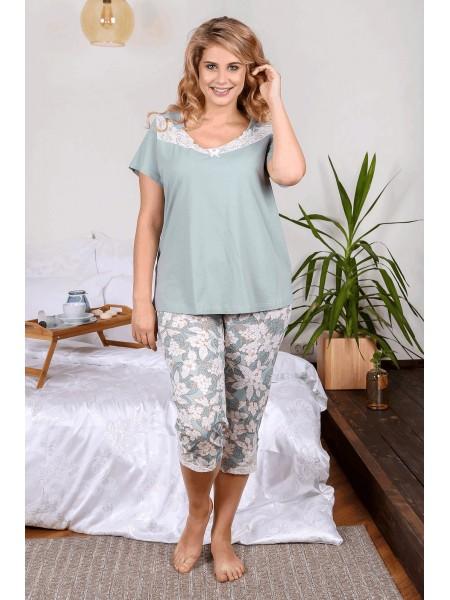Пижама с бриджами Изабель-5 цв. в ассорт.