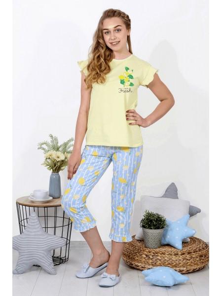 Пижама  с бриджами Лимонад-4 цв.в ассорт.