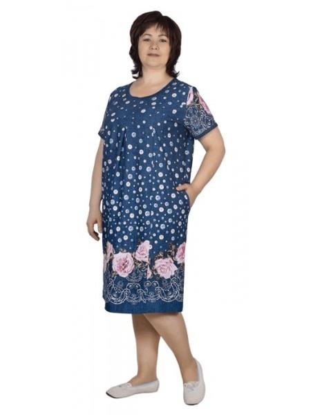 Платье женское (100% хлопок) в ассорт.