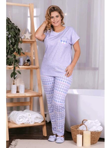 """Пижама жен с брюками (сирень) """"Сияние-2"""""""