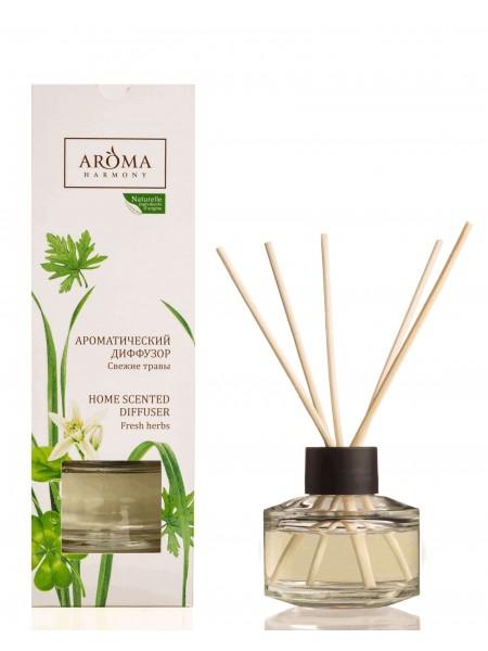 "Аромадиффузор ""Свежие травы"" с палочками 50 мл.Aroma Harmony"
