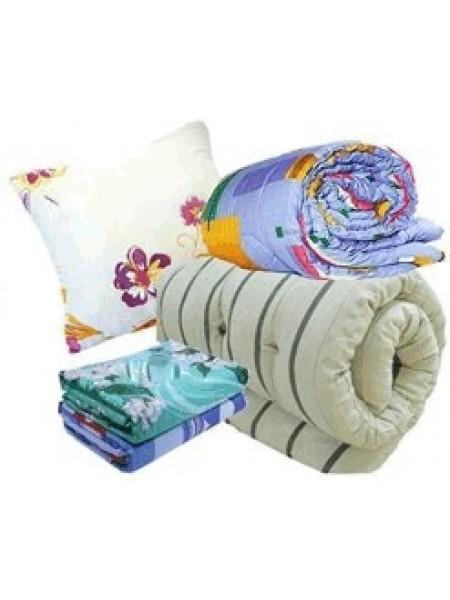 Готовый спальный комплект для рабочих (матрас+одеяло+подушка+постельное бельё)