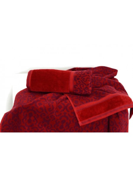 Полотенце махр. 70*140 Флора (бордовый)