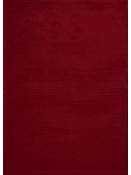 Полотенце кух.вафельное 50*70 цв. красный