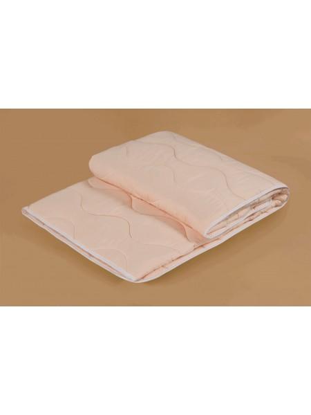 Одеяло 1,5 сп. овечья шерсть облегченное стёганое (чехол-хлопок 100%)