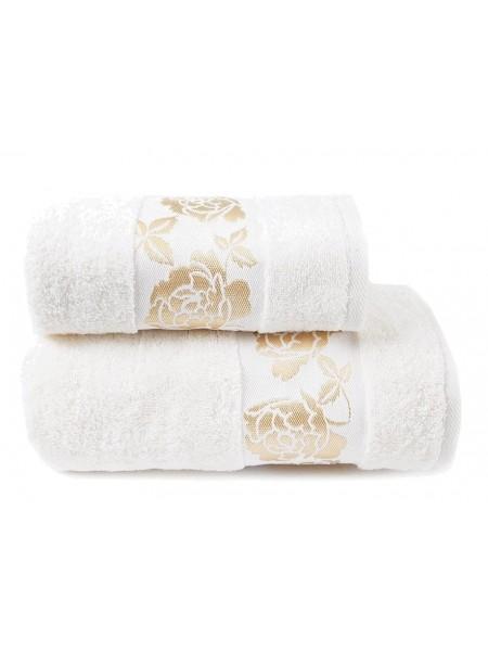 Полотенце махр. 70*130 Gold Flower 420гр/м2, цв.молочный