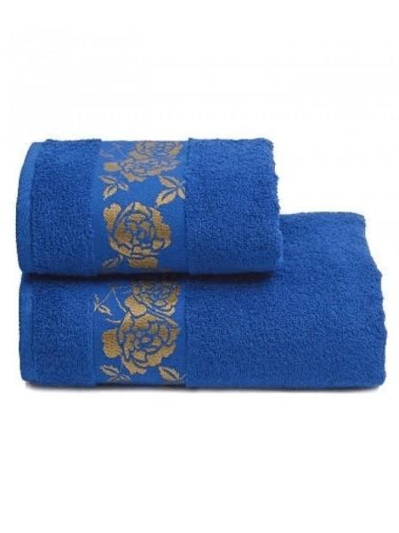Полотенце махр. 70*130 Gold Flower 420гр/м2, цв.синий