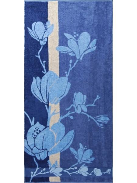 Полотенце махровое бамбуковое 70*140 Magnolia (синее)