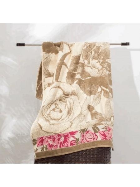 Полотенце махр. 70*130 460гр/м2 Neo-vintage peonia, цв.беж