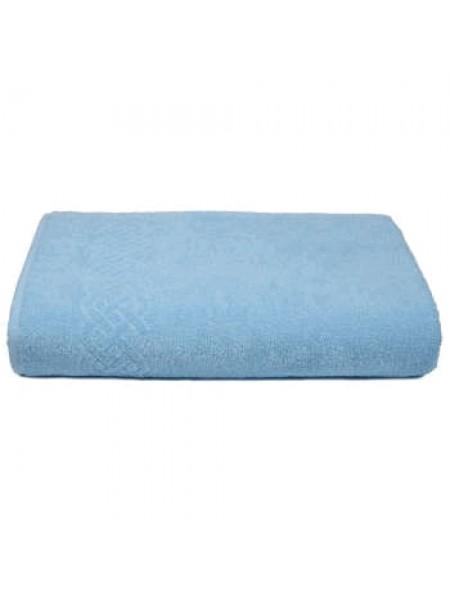 Простыня махровая 200*220/нл+5501-01933 цв. голубой