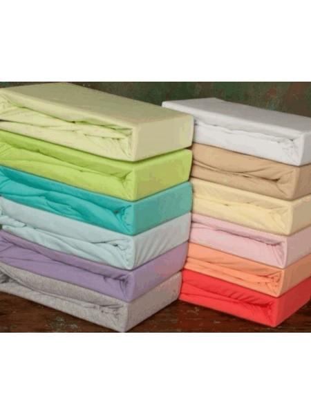 Простыня на резинке трикотажная 200*200*20 цвета в ассортименте