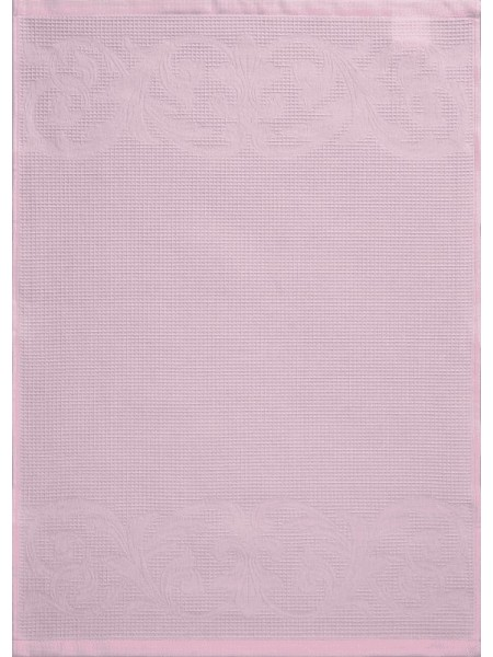 Полотенце кух.вафельное 50*70 цв. розовый