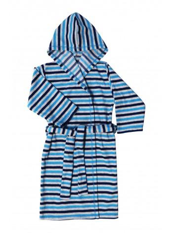 Халат велюровый детский с капюшоном
