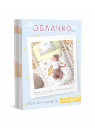 КПБ детский простыня на резинке бязь-люкс First year