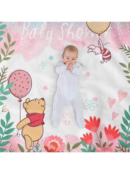 КПБ детский простыня на резинке бязь-люкс Winnie pooh