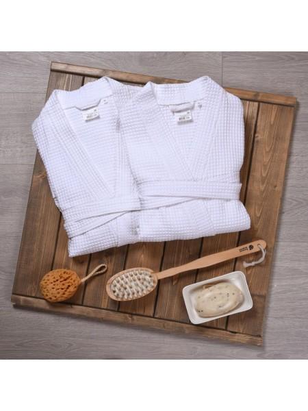 Халат женский вафельный  240гр/м2 (белый)