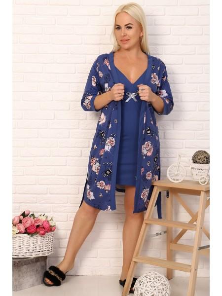 Комплект женский (халат+сорочка) 11522