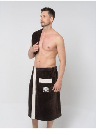 """Комплект для сауны мужской """"Oregon"""" килт+полотенце (бамбук) цв. в ассорт."""