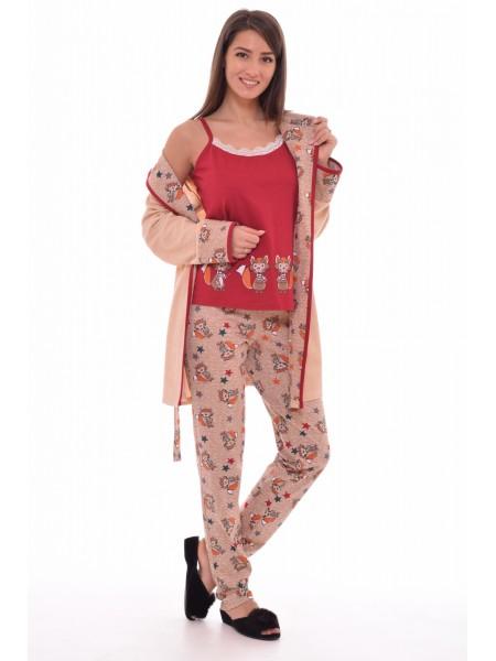 Комплект дом. 3пр. Жен.(халат+пижама с брюками) Новое Кимоно