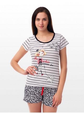 Комплект домашний с шортами Дама с собачкой
