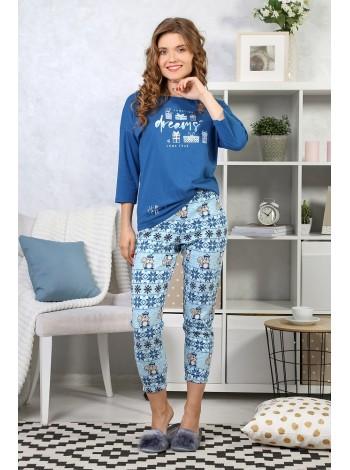"""Комплект с бриджами """"Белки-2"""" цвет голубой"""