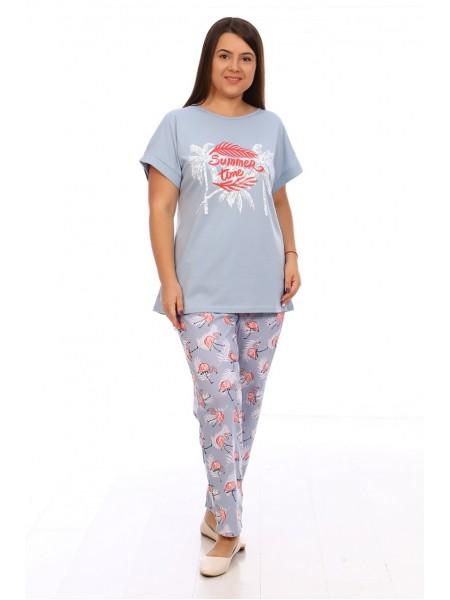 Пижама с брюками Фламинго