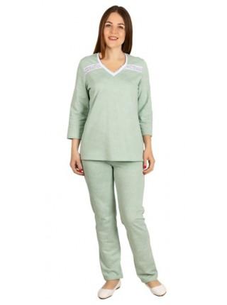 Пижама с брюками теплая (футер) К-125-08 цвет в ассорт.