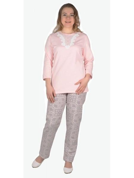 Пижама с брюками теплая(футер) К-93-08