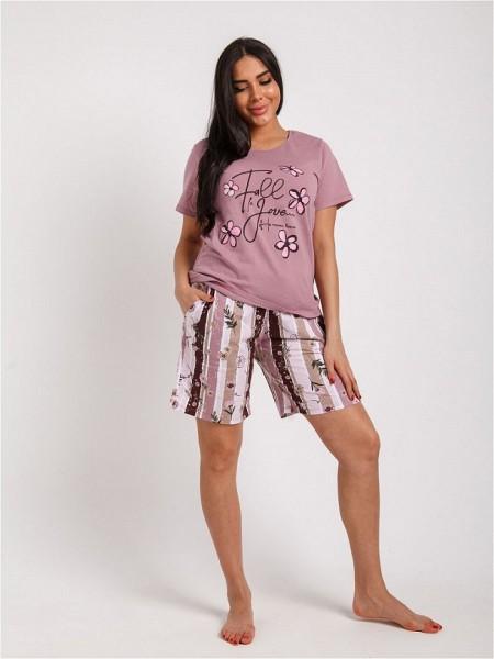 Пижама с удлиненными  шортами КТК-1234