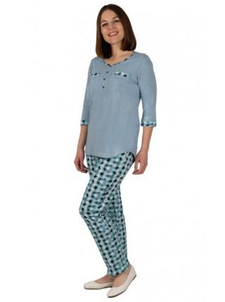 Пижама женская (хлопок) с брюками К-108-04