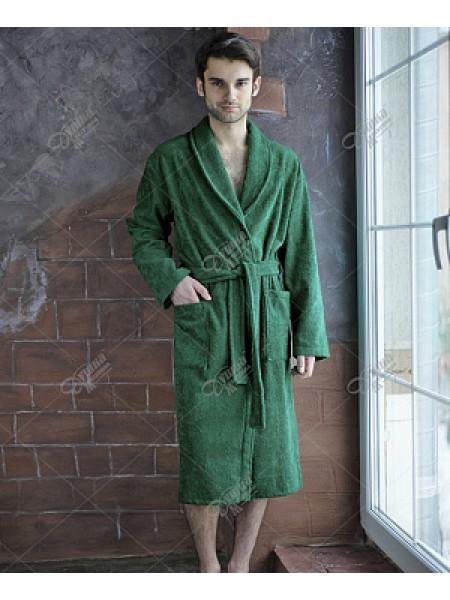 Халат муж махровый шалька (цвет зеленый)