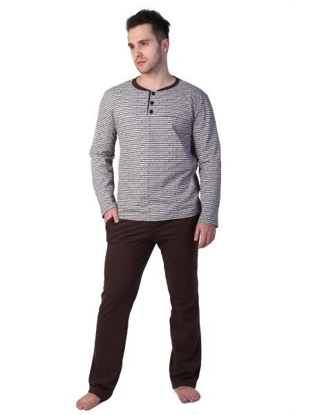 """Комплект муж.домашний с однотонными брюками """"Щеголь"""" 1401-К"""