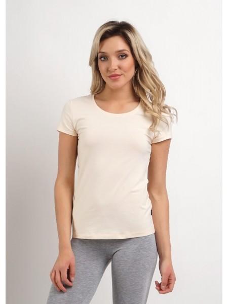 Фуфайка (футболка) женская Clever (бежевая)