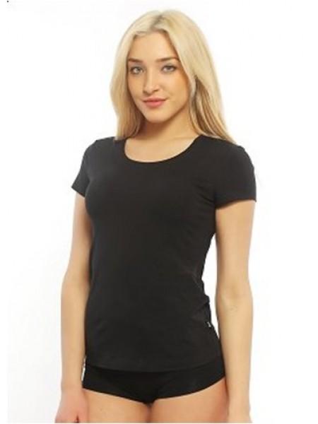 Фуфайка (футболка) женская Clever (черная)