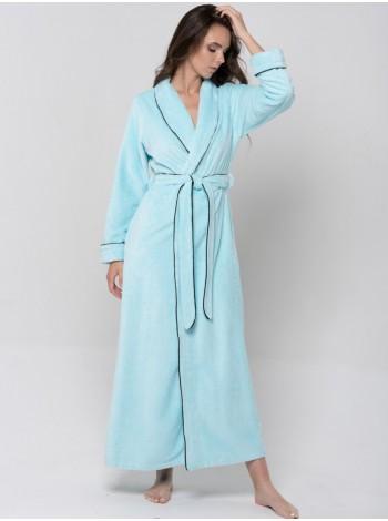Халат бамбуковый жен махровый Elegance (mint)